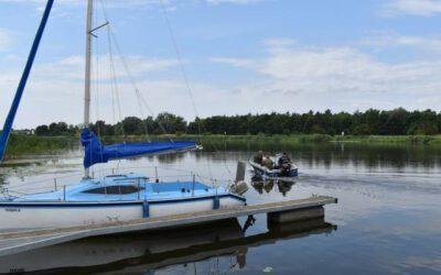 Malbork. Policyjny patrol powrócił na Nogat. Służbę na łodzi motorowej będą pełnili do końca wakacji